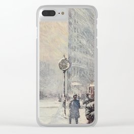 Lewis, Martin (1881-1962) - New York 1911 - A Blizzard, 23rd St & Broadway Clear iPhone Case