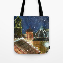 Plaza: Snowy Tote Bag