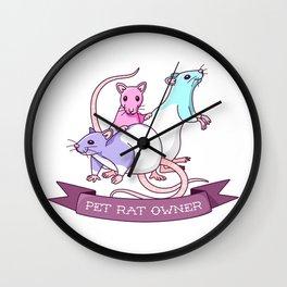 Pet Rat Owner Wall Clock