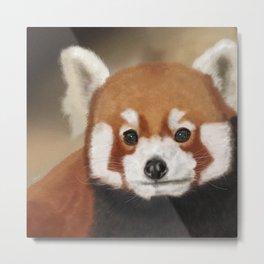 Red Panda Portrait Metal Print
