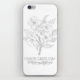 North Carolina Sketch iPhone Skin
