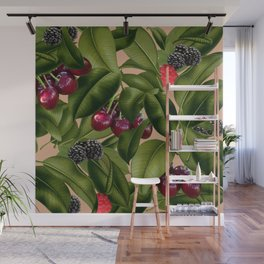 FRUITS AND LEAVES Wall Mural