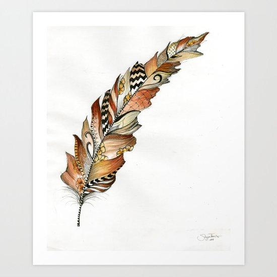 Fall Feather  Art Print