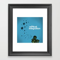 vertical integration Framed Art Print