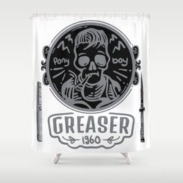 Greaser Shower Curtain
