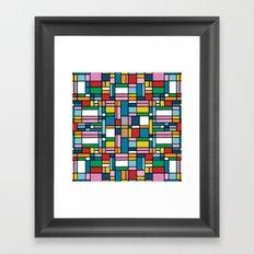 Map Outline Framed Art Print