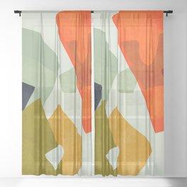 bric a brac mid century III Sheer Curtain
