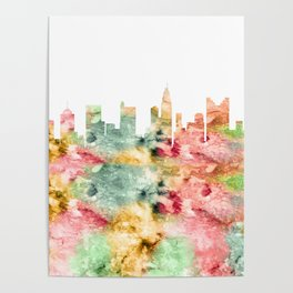 Columbus City Skyline Ohio Poster