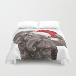 Christmas Baby Elephant Duvet Cover