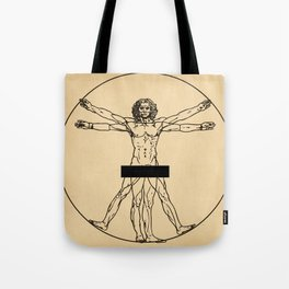 Vitruvian censorship Tote Bag