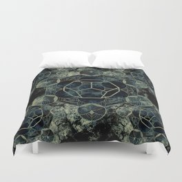 Sacred Geometry for your daily life -  Platonic Solids - ETHER Duvet Cover
