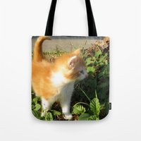 bill Tote Bags featuring Bill by aintevenconcerned