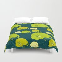 dragons Duvet Covers featuring dragons by lisenok