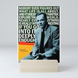 Richard Feynman Quote 1 Mini Art Print