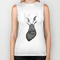 jackalope Biker Tanks featuring The Jackalope by ECMazur