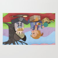 dragon age Area & Throw Rugs featuring Dragon Age - Varric and Cole Picnic by Choco-Minto