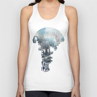 navy Tank Tops featuring Secret Streets II by David Fleck