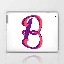 Letter B - typography gummy Laptop & iPad Skin