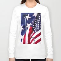 america Long Sleeve T-shirts featuring America by TexasArt