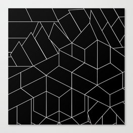 White Lines on Black III Canvas Print