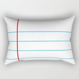 Notebook Paper Rectangular Pillow