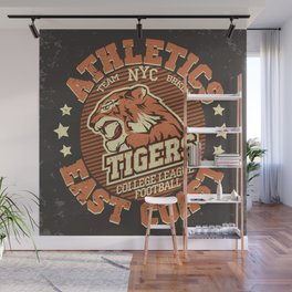 Angry Tiger Sport Wall Mural