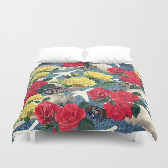 abstract flowers ,pattern  Duvet Cover