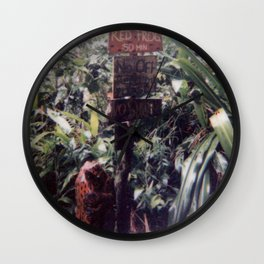 Little Jungle Friend Wall Clock