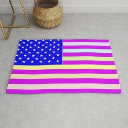 America the Beautiful Flag Pink Rug