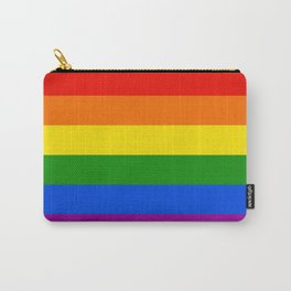 Rainbow Stripes Carry-All Pouch