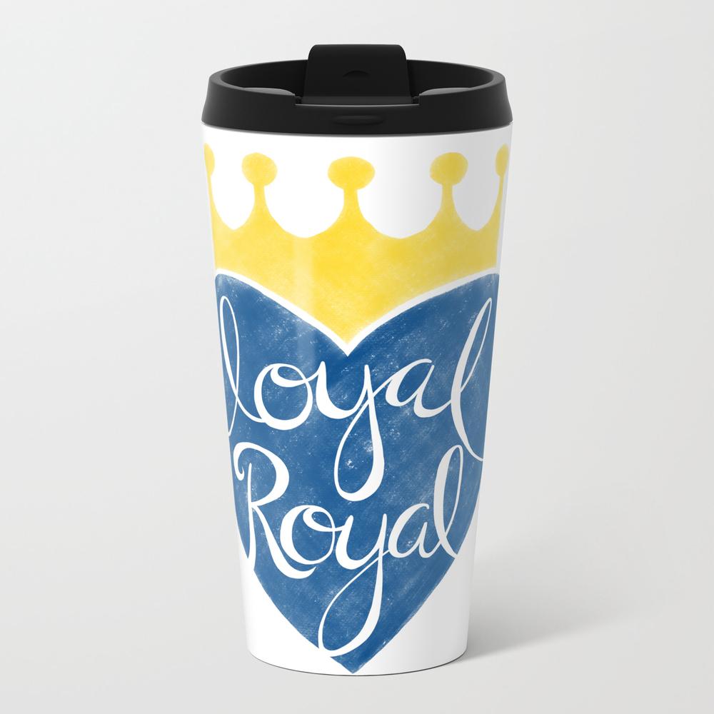 Kansas City Loyal Royal Metal Travel Mug by Ruthmillercreative MTM8895019