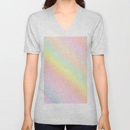 holographic iridescent rainbow 1 Unisex V-Neck