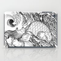 koi fish iPad Cases featuring Koi Fish by Disturbed