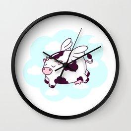 Flying Cow Wall Clock