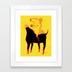 Yellow Rider Framed Art Print