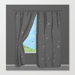 The evening (night) curtain DARK Canvas Print