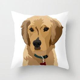 Beau the Golden Retriever Puppy Throw Pillow