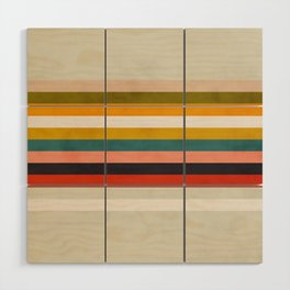 modern abstract stripe geometric Wood Wall Art