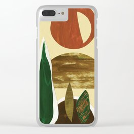 Desert Sunrise Clear iPhone Case
