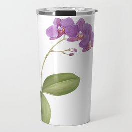 Flowering purple phalaenopsis orchid Travel Mug