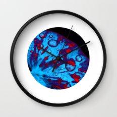 neon lily pad XVI Wall Clock