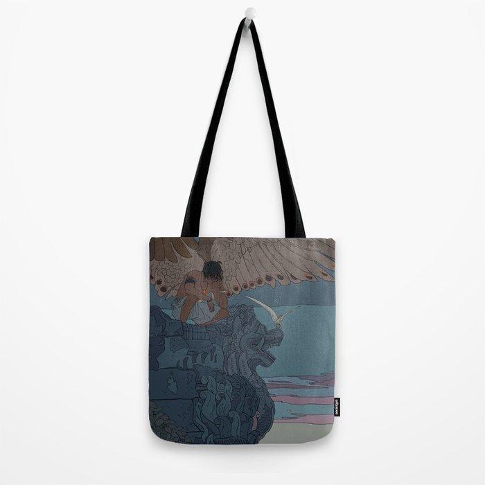 Perched Angels Tote Bag