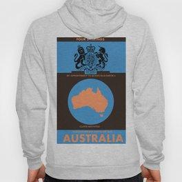 Vintage australian map poster Hoody