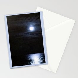 Moon Over Lake Michigan Stationery Cards