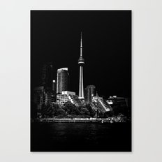 CN Tower From Bathurst Quay Toronto Canada Canvas Print