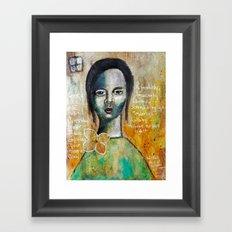 Love Girl Framed Art Print