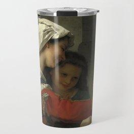"""William-Adolphe Bouguereau """"Admiration maternelle - le bain"""" Travel Mug"""