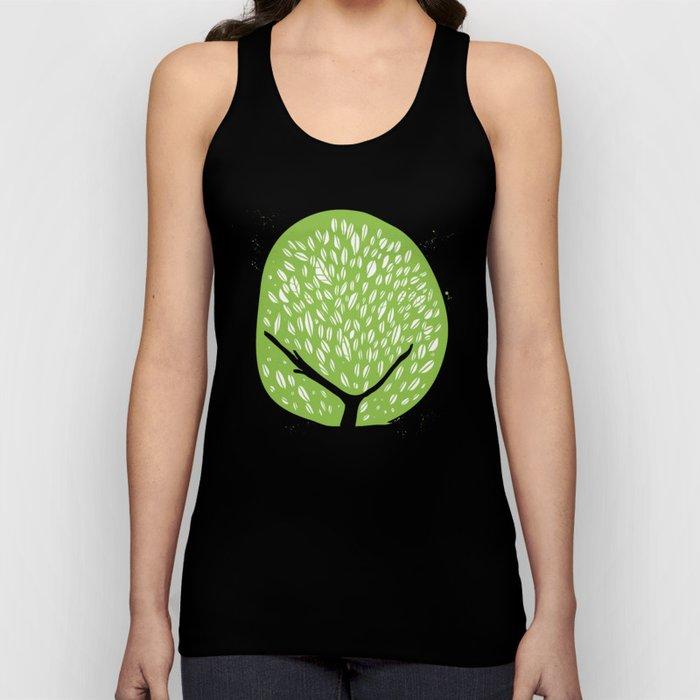 Tree of life - pea green Unisex Tank Top