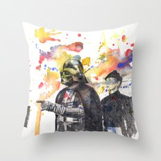 Darth Vader Pointing Leia Star Wars Movie Scene Throw Pillow