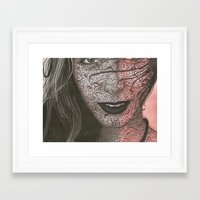 no face Framed Art Prints featuring Face  by Kate Allison